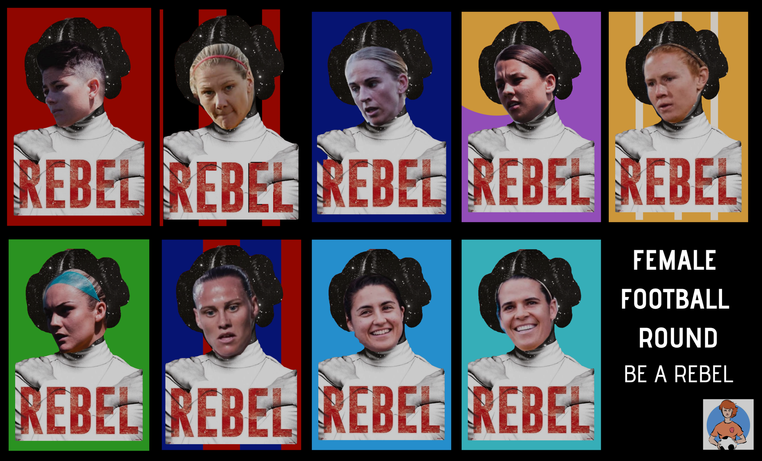 Rebel Female Football Week Banner